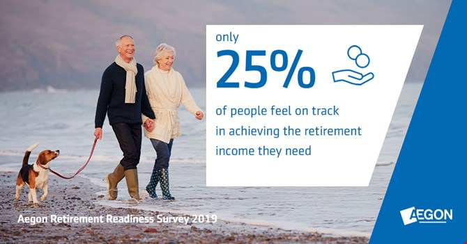 only 25 percent feel they are on track to achieve the level of retirement income they need.
