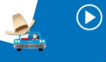 Cartoon cowboy hat