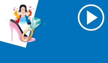 Cartoon fairy and a stilleto shoe