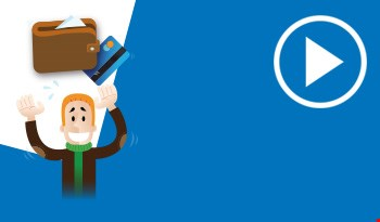 Cartoon of a man throwing his wallet in the air