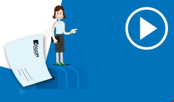 Cartoon mailbox with an Aegon letter