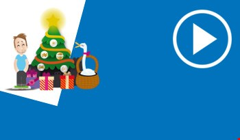 Cartoon christmas scene
