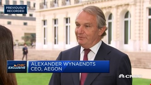 Aegon CEO Alex Wynaendts in an interview with CNBC