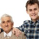 Romanian retired man and teenager
