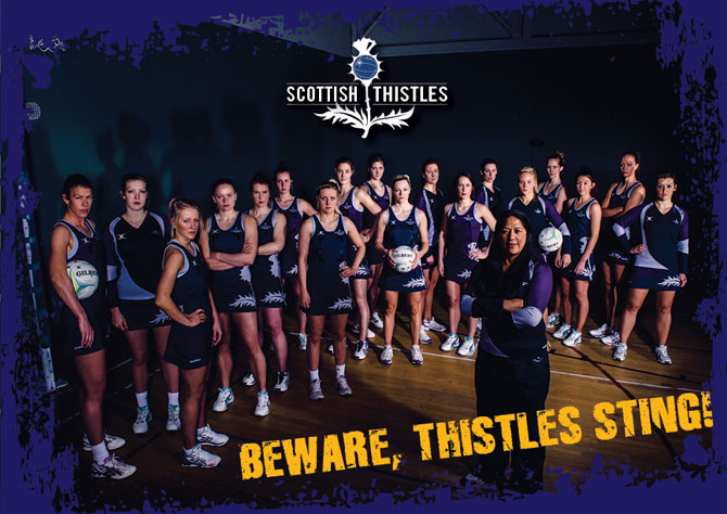 Scottish Thistles Netball Team