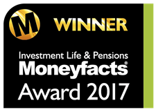 Logo for Investment Life and Pensions MoneyFacts Awards 2017