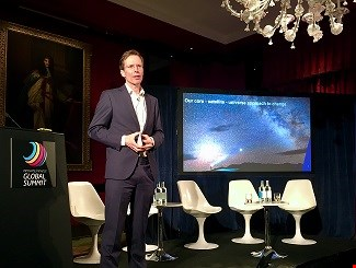 Marc van Weede speaking at the  Innovate Finance Global Summit in London on April 29