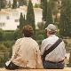 Elderly couple admiring the view in Spain