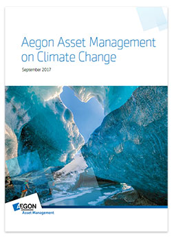 Cover Aegon Asset Management 2017 Climate Change Report