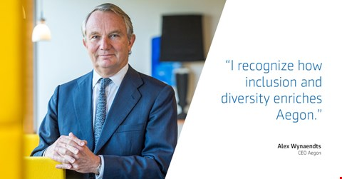 """As CEO of Aegon, I recognize how inclusion and diversity enriches Aegon,"" said Aegon CEO Alex Wynaendts."