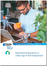 Report cover: Retirement Preparations in a New Age of Self-Employment
