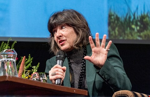 Christiane Amanpour on stage