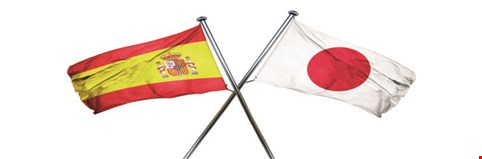 Spanish and Japanese flags