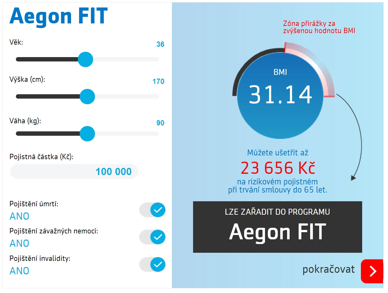 Aegon Fit BMI Calculator
