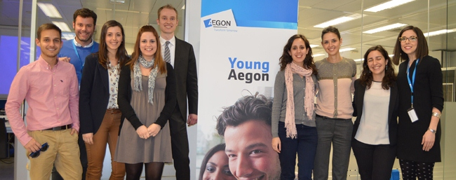 Group photo of Young Aegon Spain in 2015