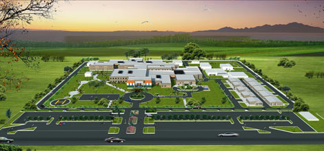 Artists impression Tahoua hospital in the Republic of Niger